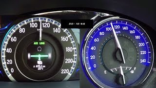 Honda Accord Hybrid vs Toyota Camry Hybrid 0-100 Speed test & 100-0 Brake test