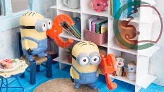 Как сделать стеллаж для кукол. How to make a shelving.(Давайте делать стеллаж для нашей кукольной комнаты. В стеллаж можно положить кукольные вещи, книги и коробк..., 2015-02-07T13:09:08.000Z)
