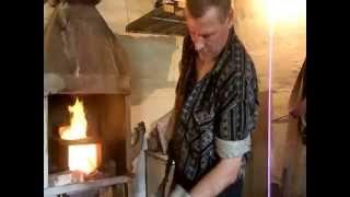 Изготовление ножа, часть третья - заклка клинка