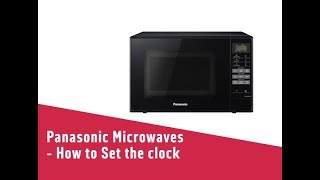 Panasonic Microwaves How to Set the clock