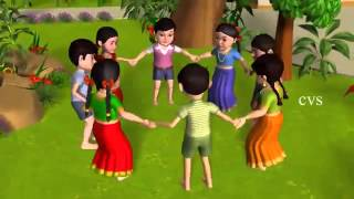 Ringa Ringa Roses   3D Animation English Nursery Rhyme Songs for Children 360p