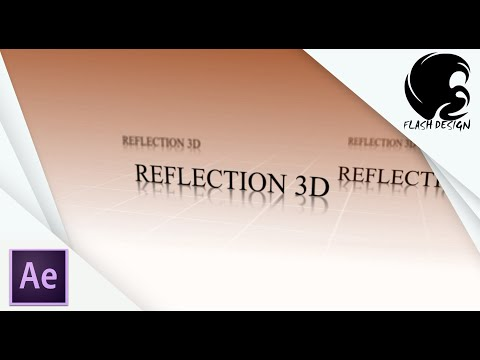 Tutoriel After effects_Reflexion 3D-FLASH DESIGN