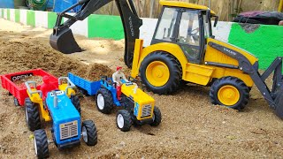 Tractor HMT toy with fully loaded trolley| Toy tractor power| Boom Boom