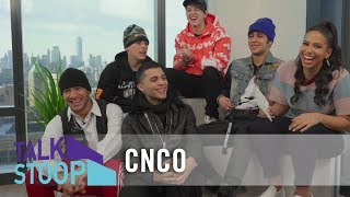 EXCLUSIVE: CNCO Reveals Who's Single and How Fans Snuck Into Their Dressing Room | Talk Stoop