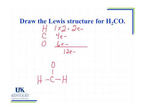 6.02 Draw the Lewis structure for H2CO - YouTube H2coh Lewis Structure
