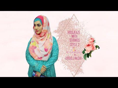 Hoojeaze with strings style 2 | Hijabeaze by Urooj Asif - YouTube