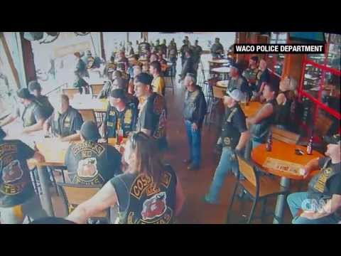 RAW NEW VIDEO: Surveillance video shows Waco biker shooting ( GRAPHIC )