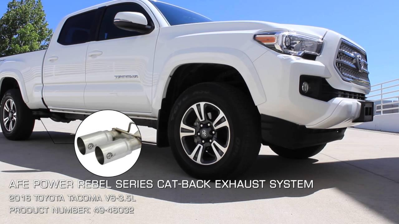 afe power 2016 toyota tacoma v6 3 5l cat back exhaust. Black Bedroom Furniture Sets. Home Design Ideas