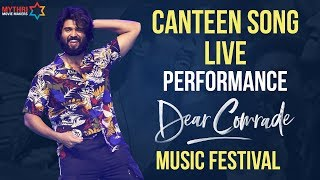 Canteen Song LIVE Performance Vijay Deverakonda Dear Comrade Music Festival Rashmika Mandanna
