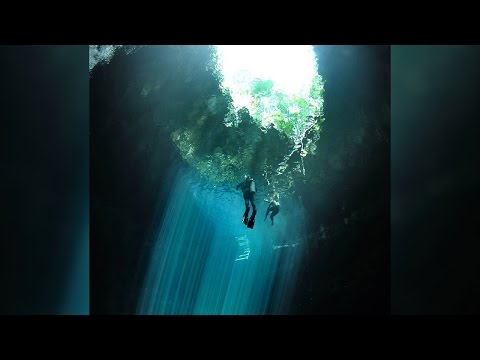 Diver Plunges Into Ancient Mayan Sinkhole
