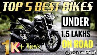 2021 Top 5 Best Bikes Under 1.5 Lakhs Tamil    On Road Price    Tamil Moto Tips    HARIVLOGS.