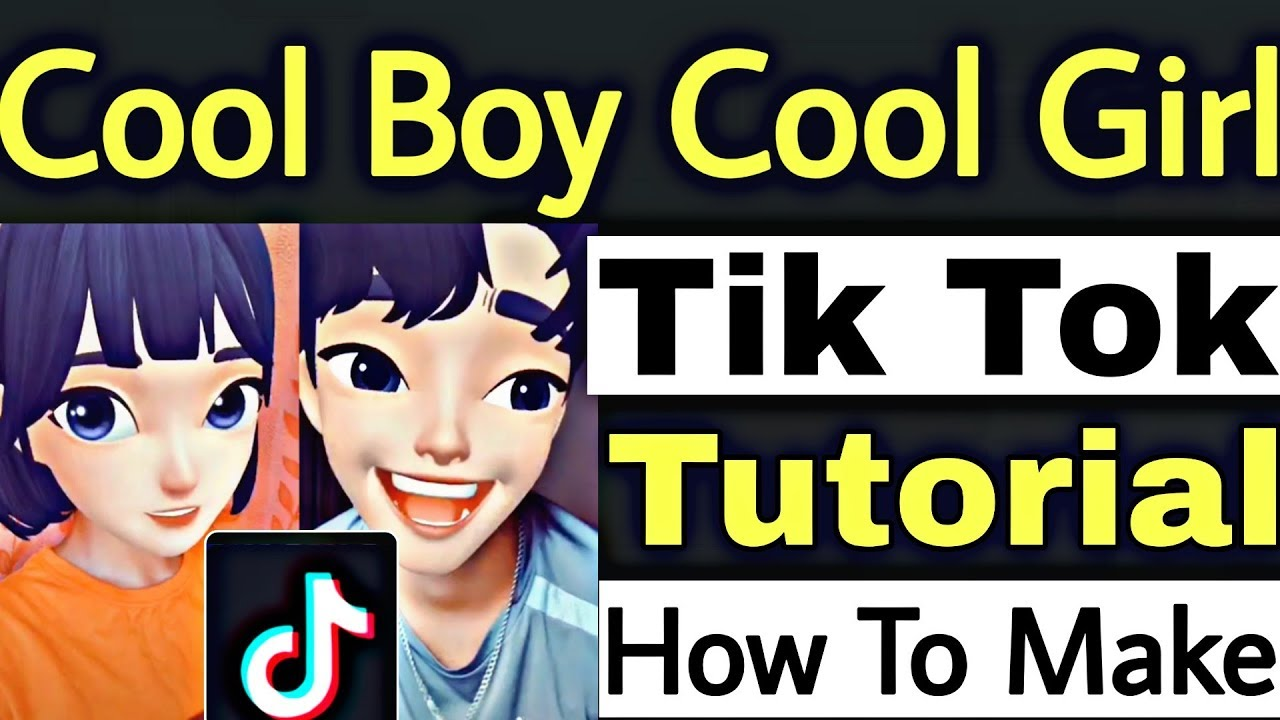 image Cool Boy & Cool Girl Cartoon Face Effect Tik Tok Musically Tutorial | Make Cartoon Face Video