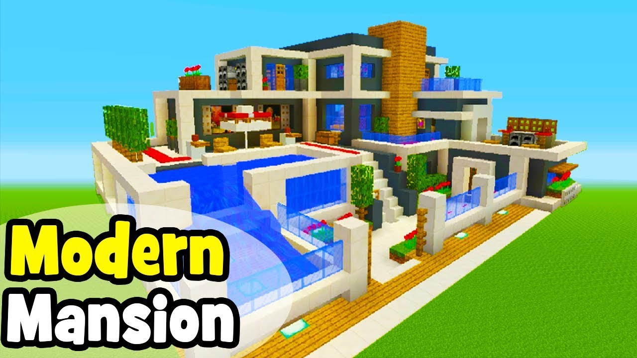 Minecraft Tutorial: How To Make A Modern Mansion #6 - YouTube