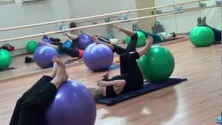 Урок  Фитбол  fitball שיעור  fitball exercises