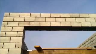 Перемычка над гаражными воротами из керамзитовых блоков 3.6 м