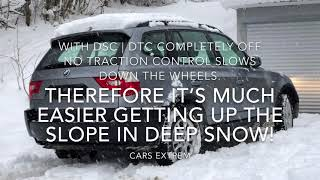 BMW's DSC | DTC On VS Off in Depp Snow on A 20% Slope | xDrive | 2004 BMW X3 3.0d E83