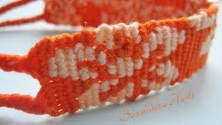 Прямое плетение фенечки 2 цвета / второй способ