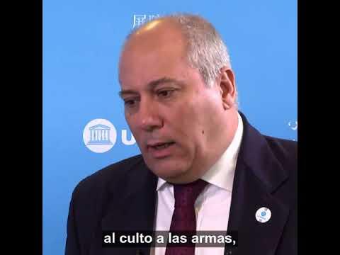 Ministro de Cultura de #Cuba Alpidio Alonso, en la Conferencia General de la Unesco