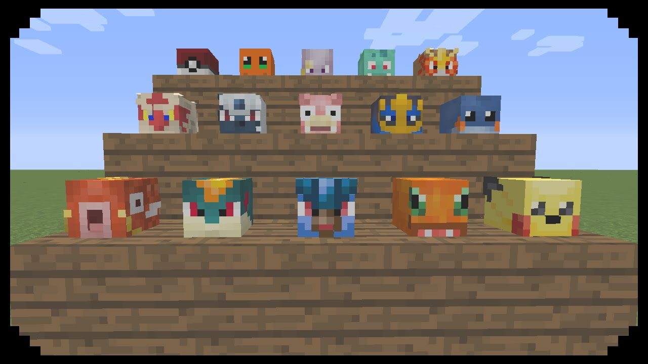 Minecraft How To Obtain Pokemon Heads Youtube