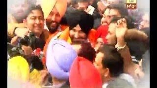 Navjot Sidhu in Punjab after joining Congress
