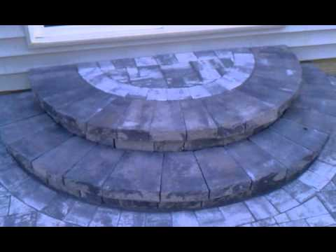 Nicolock Pavers Rustico Marble Blend Round Steps By