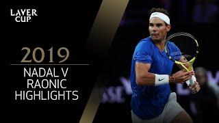 Match Highlights:  Nadal v  Raonic, Day 2, September 21 2019