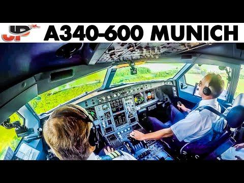 Piloting SAA Airbus A340-600 To Munich | Cockpit Views
