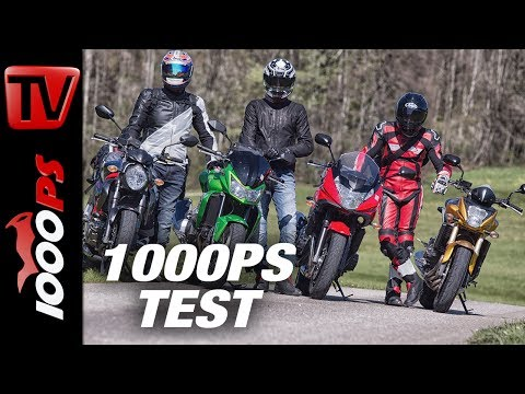 1000PS Test - Gebrauchte NakedBikes um 5000 Euro - Z750, 650 Bandit, SFV650 Gladius, 600 Hornet