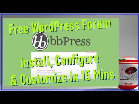 Install Configure U0026 Customize BbPress WordPress Forum In 15 Minutes