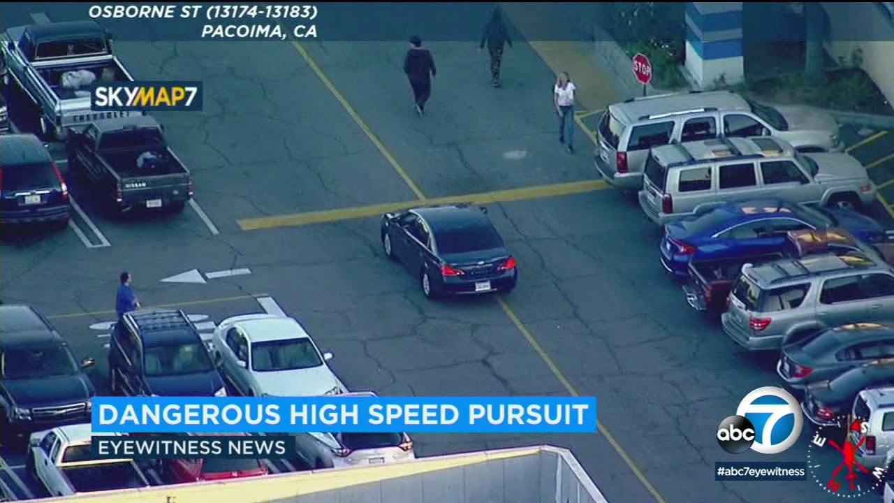 POLICE CHASE: High-speed chase leads LAPD through streets of San Fernando Valley | ABC7