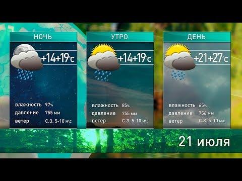 Прогноз погоды на 21-22 июля