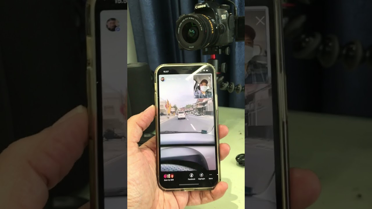Tutorial double/dual kamera smartphone depan belakang barengan merekam. Untuk IG story, Vlogger