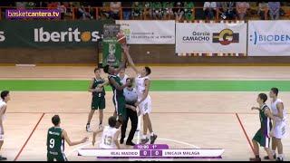 U14M -  REAL MADRID vs UNICAJA DE MÁLAGA - Torneo Infantil Ciudad de Lares 2019 (BasketCantera.TV)