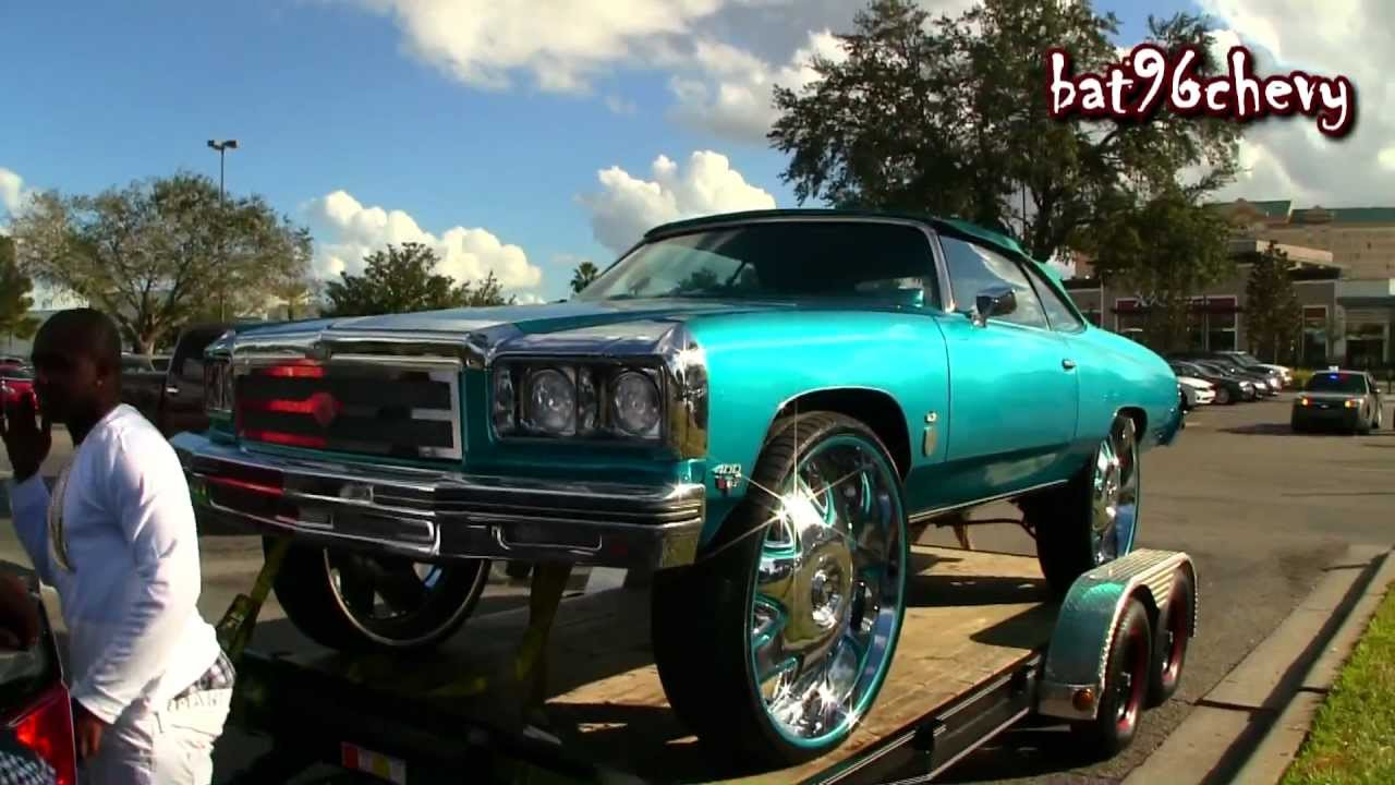 """2012 Chevy Caprice >> Candy Teal 75 Caprice Donk Vert on 32"""" DUB Banditos"""