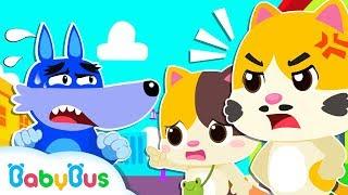 Ayah Bayi Kucing Marah | Lagu Anak-anak | BabyBus Bahasa Indonesia