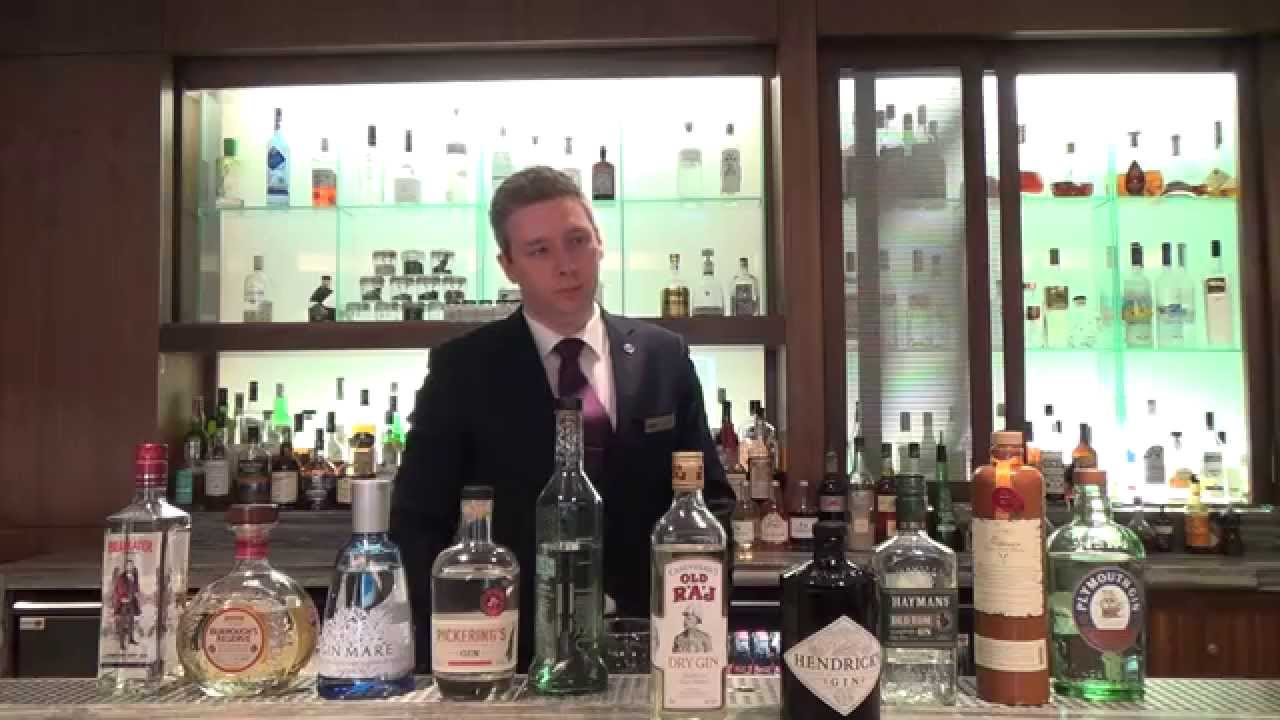 Learn About Gin With Bar Manager From Sheraton Hotel, Edinburgh  Bar Manager