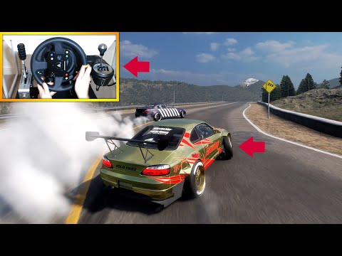 Silvia S15 Tandem Drift Gameplay! (Steering Wheel + Shifter) Car X Drift Racing Multiplayer!