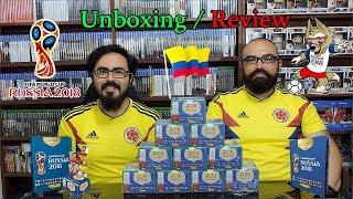 Álbum Panini Rusia 2018 Abriendo Caja de 104 Sobres Colombia Unboxing - JxR