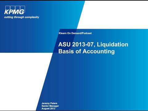 ASU 2013-07 Liquidation Basis of Accounting