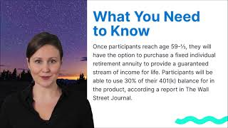 Retirement Planning News: BlackRock Is Adding Annuities to 401ks