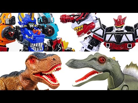 Thumbnail: The best combination! DinoCore 2 and Dino Charge Brave! Defeat dinosaurs together! - DuDuPopTOY