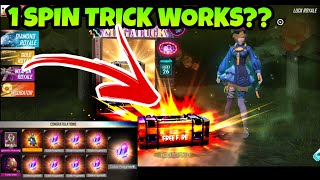 NEW DIAMOND ROYAL UNLOCK TRICK ??  | ONE SPIN TRICK WOKRS| FREE FIRE BATTLEGROUNDS