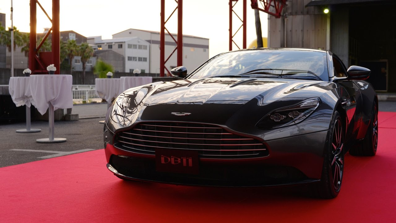 db11 launch and aston martin drifting performance in osaka, japan