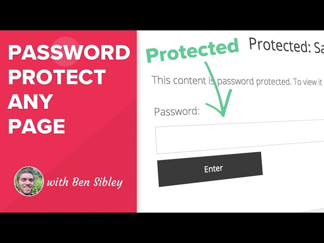How to Password Protect Any Page in WordPress