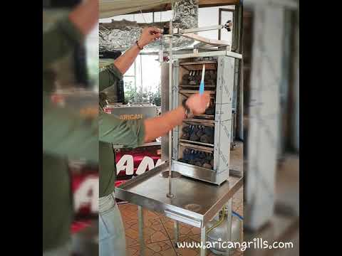 gas-and-lava-stone-doner-gyros-machine