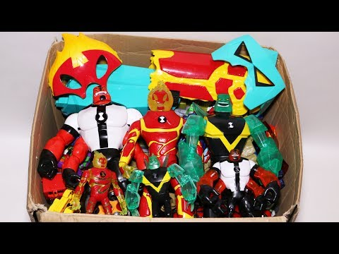 Box of Toys Ben 10 Action Figures, Cars, Masks, Omnitrix and More