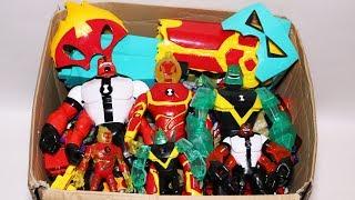 Kiste Spielzeug: Ben 10-Action-Figuren, Autos, Masken, Omnitrix und Mehr