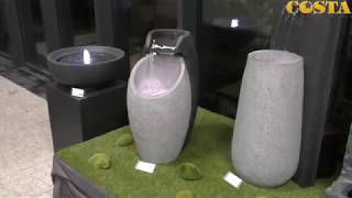 Video: Fontanna misa na kolumnie czarna z podświetleniem led 48x83,5cm