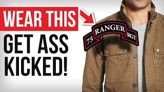 Wear THIS & Get Your Ass Kicked... | Stolen Valor Meaning & Consequences