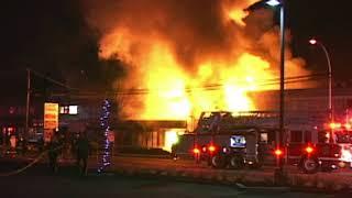 Massive fire on Scott Road in Surrey: Feb. 2, 2012